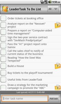 LeaderTask ToDo List screenshot